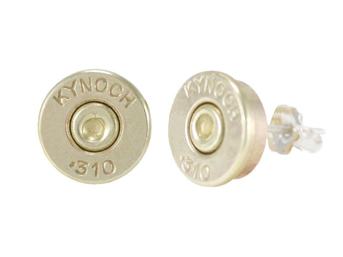 .310 shell casing stud earrings