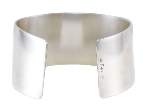 Polished sterling silver 3cm wide cuff