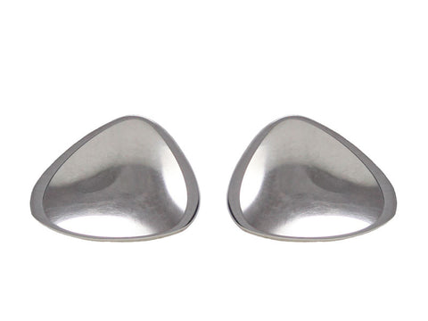 Sterling Silver Pressed Pebble Stud Earrings