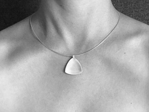 Pressed Tri Pendant Necklace