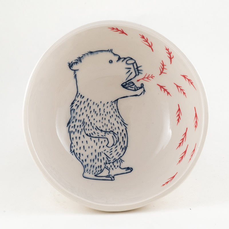 Bear Breathing Branches Bowl (b-764)