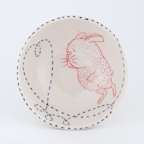 Rabbit and Heart Bowl (b-779)