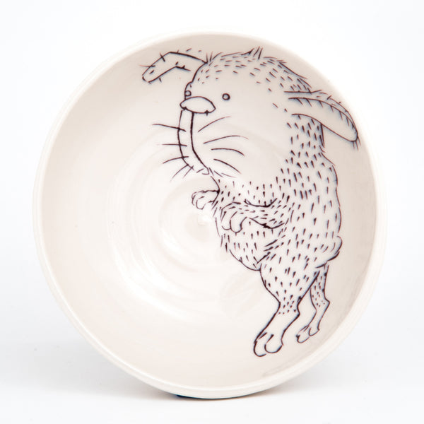 Rabbit in Purple Bowl (b-781)