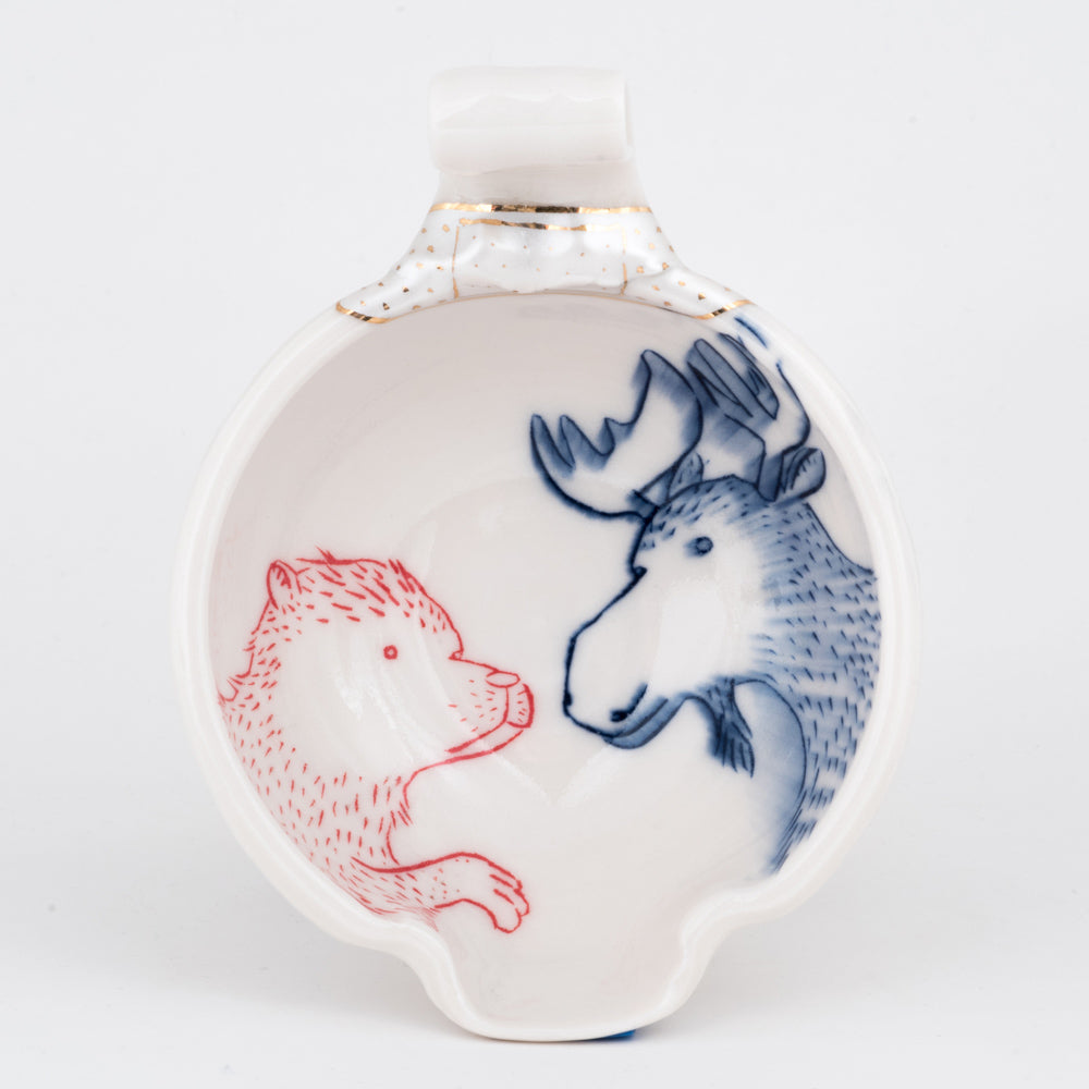 Bear and Reindeer Mixing Bowl (b-785)
