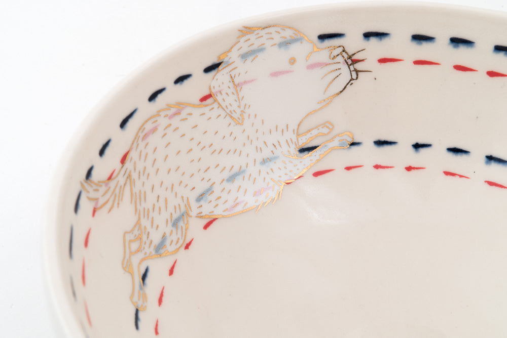 Dog and Bat Ramen Bowl (b-792)