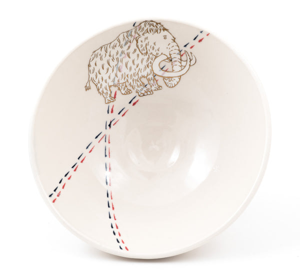 Mammoth with Snowflakes Ramen Bowl b-798)