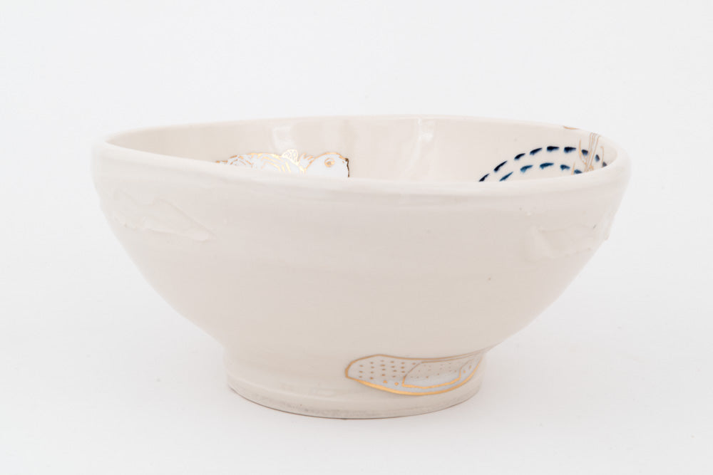 Minogame and Bandaids Ramen Bowl (b-802)