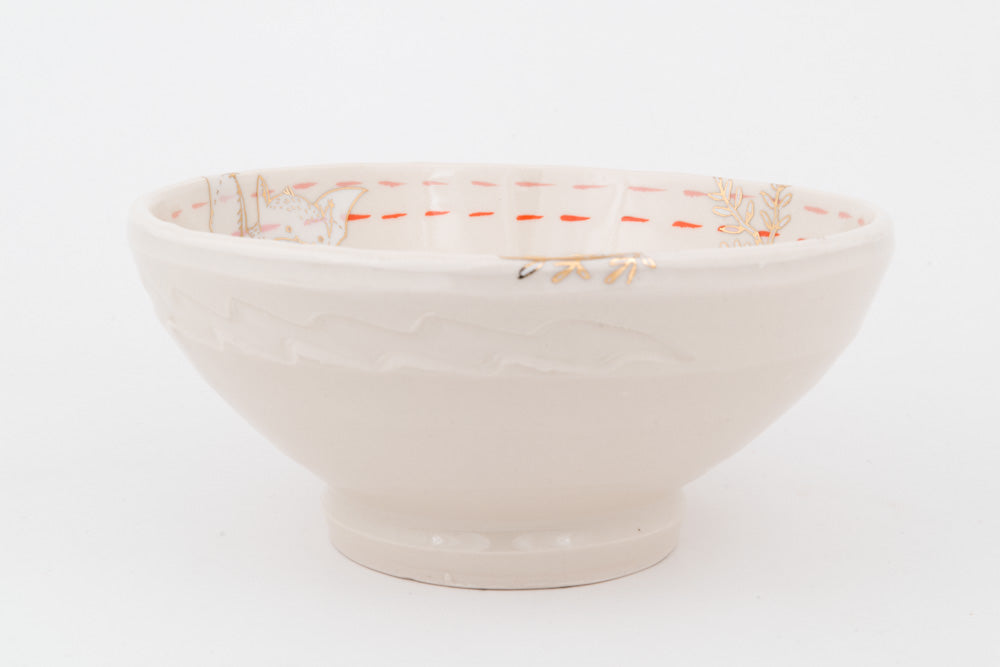 Bat, Rabbit, Toad, and Bat Ramen Bowl (b-803)