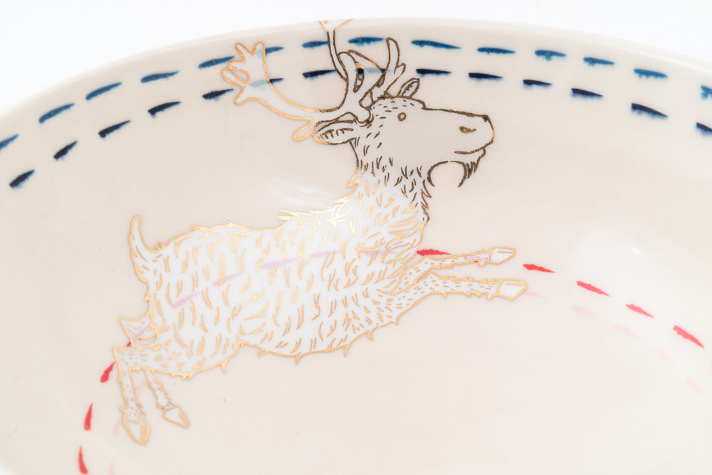Reindeer and Branch Ramen Bowl (b-815)