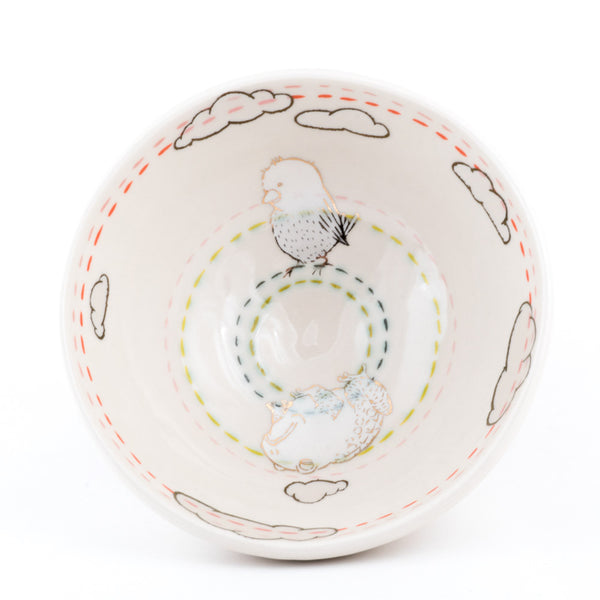 Bird and Toad Ramen Bowl (b-833)
