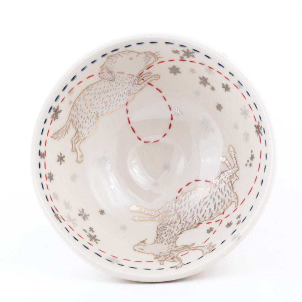 Reindeer and Dog Ramen Bowl (b-844)