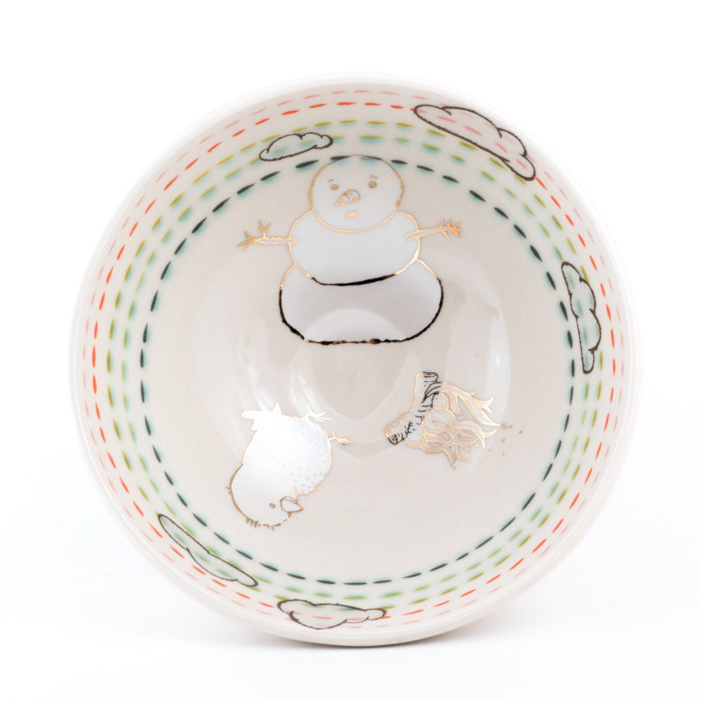Bird and Snowman Ramen Bowl (b-850)