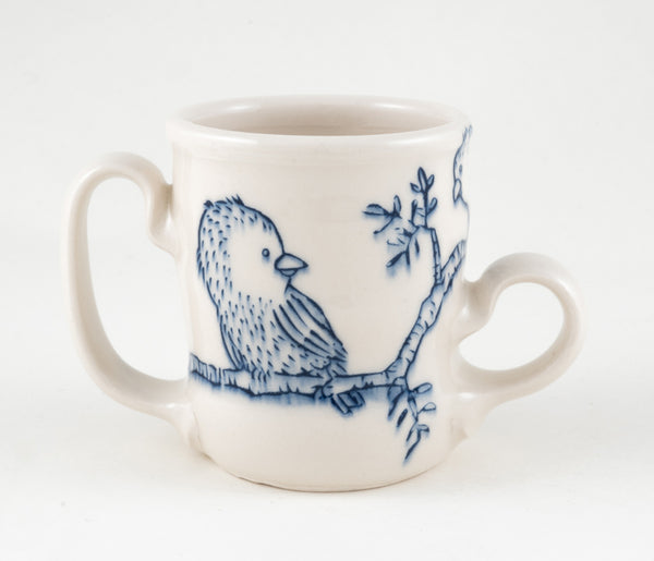 Birds on Branch Two Handled Cup (c-2324) 8 fl oz