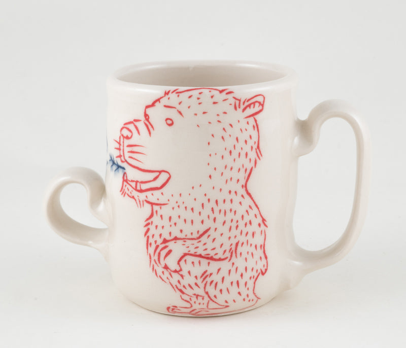 Bear Breathing Branches Two Handled Cup (c-2327) 10 fl oz