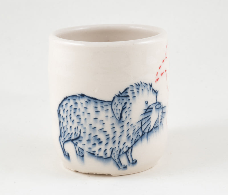 Dog and Branch Cup (c-2328) 13 fl oz