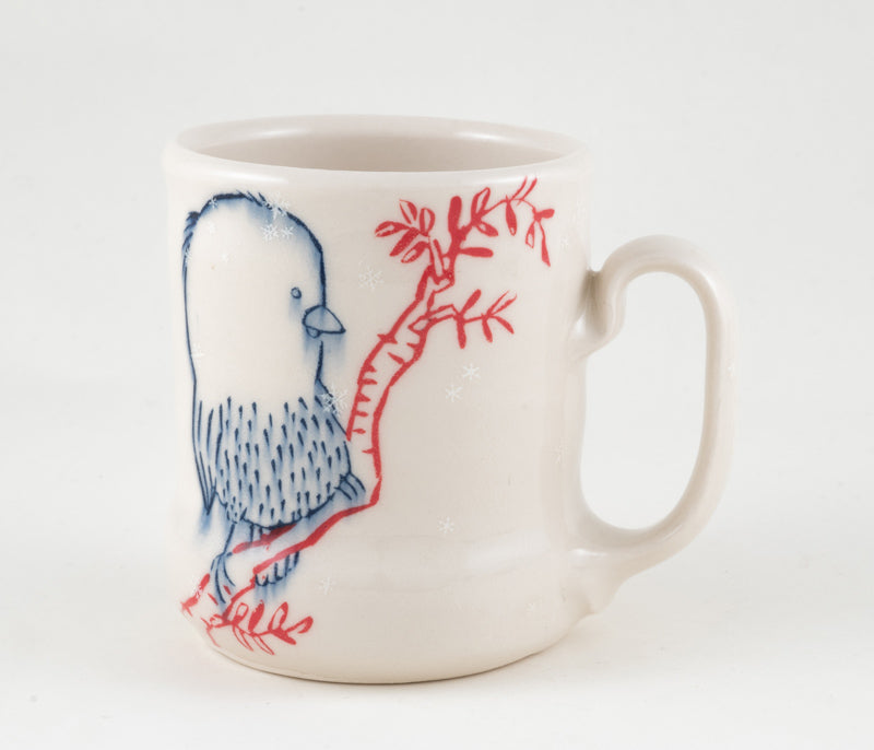 Birds on Branches in Snowfall Cup (c-2331) 12 fl oz
