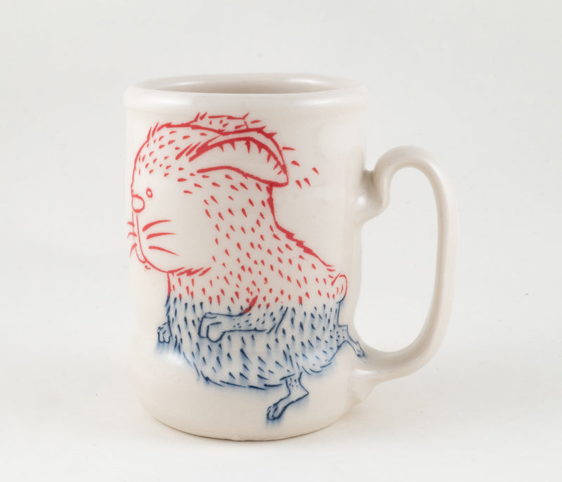 Rabbit and Bird Cup (c-2341) 15 fl oz