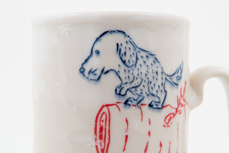 Dogs on Branches in Snowfall Cup (c-2356) 20 fl oz