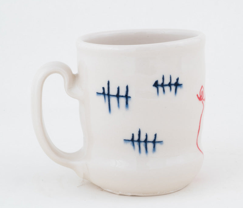 Pig with Tally Marks Cup (c-2360) 11 fl oz