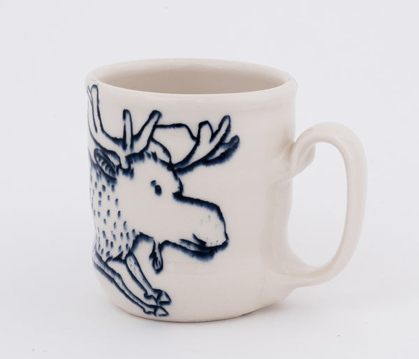 Moose and Bird Cup (c-2378) 10 fl oz