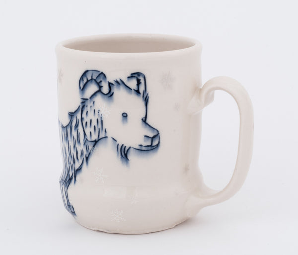 Goat and Bird in Snowfall Cup (c-2405) 16 fl oz