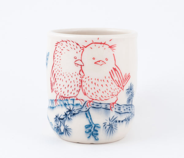 Love Birds on Branch Cup (c-2443) 13 fl oz