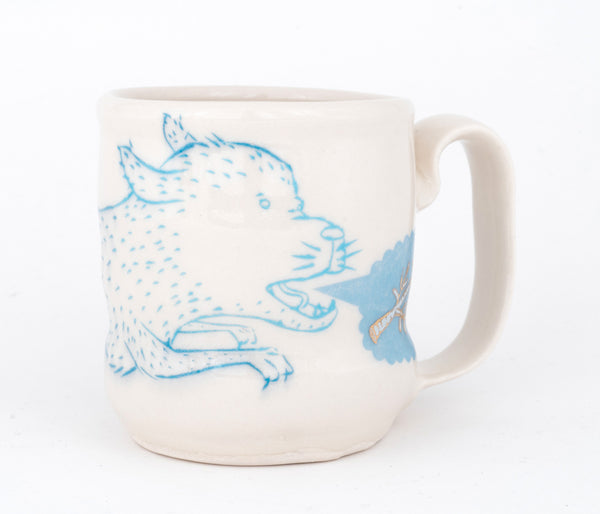 Dog and Branches Cup (c-2525) 11 fl oz