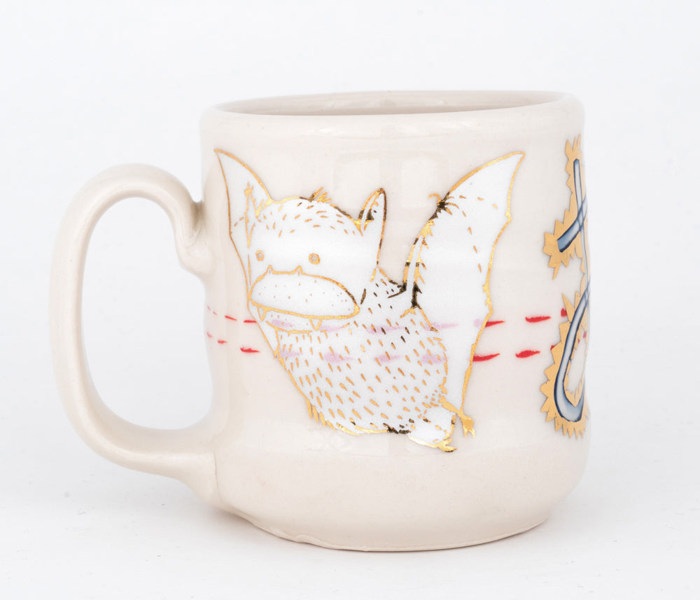 A1 Bat and Bird with Gold Luster Cup (c-2531) 11 fl oz