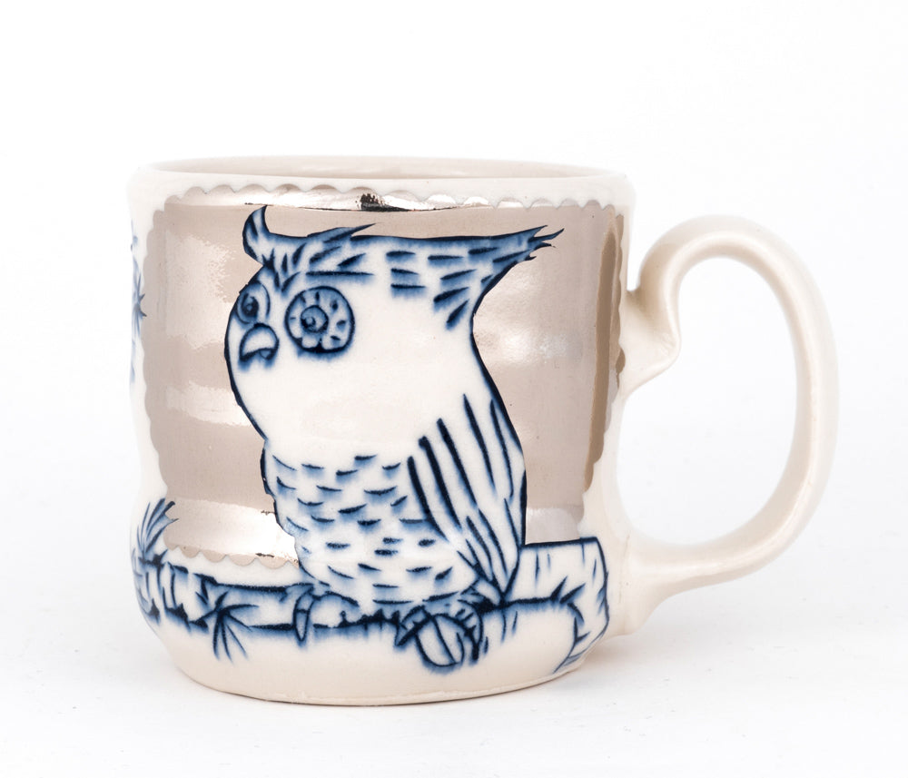 Owl with Silver Luster Cup (c-2537) 10 fl oz