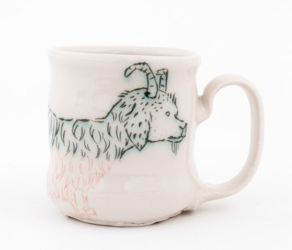 Bi-color Goat and Bird Cup (c-2557) 9 fl oz