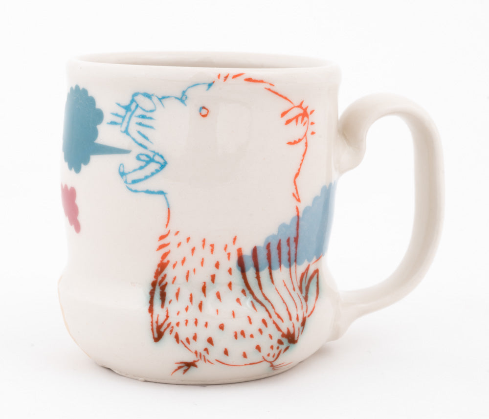 Bi-color Bird and Bear Hybrid Cup (c-2562) 13 fl oz