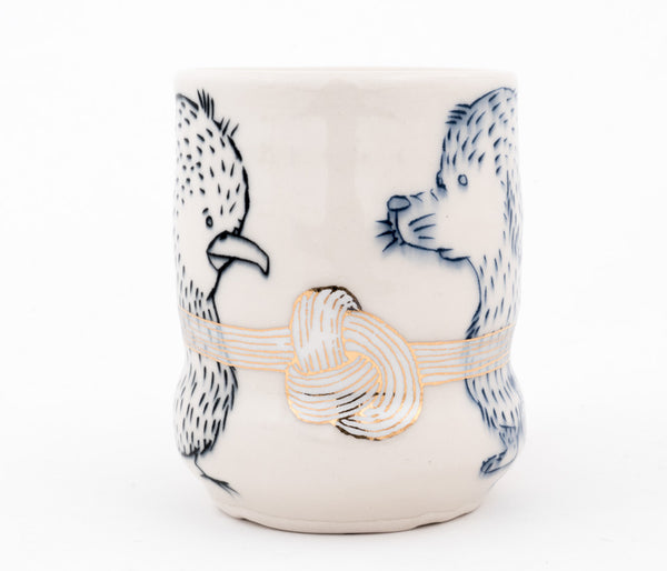 Dog and Bird with Knot Cup (c-2571) 12 fl oz