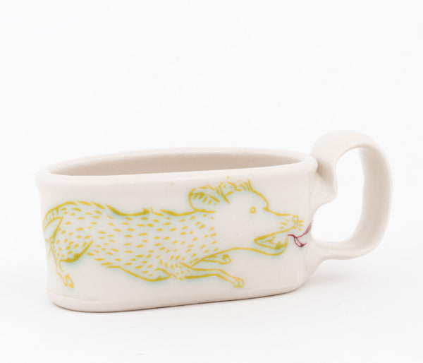 Oval Fire-breathing Shrew Espresso Cup  (c-2574) 6 fl oz