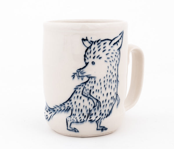 Fox and Bird  Cup (c-2579) 15 fl oz