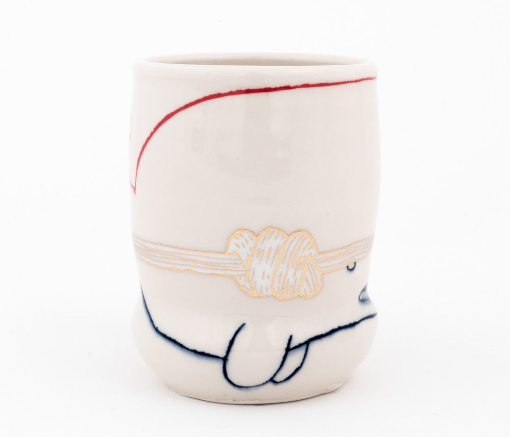 Whale with Knot Cup  (c-2580) 14 fl oz