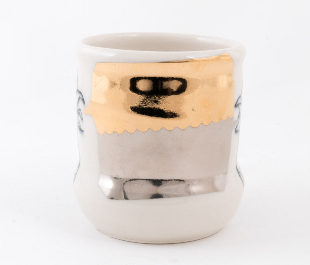 Birds with Gold and Silver Bubble Cup (c-2610) 10 fl oz