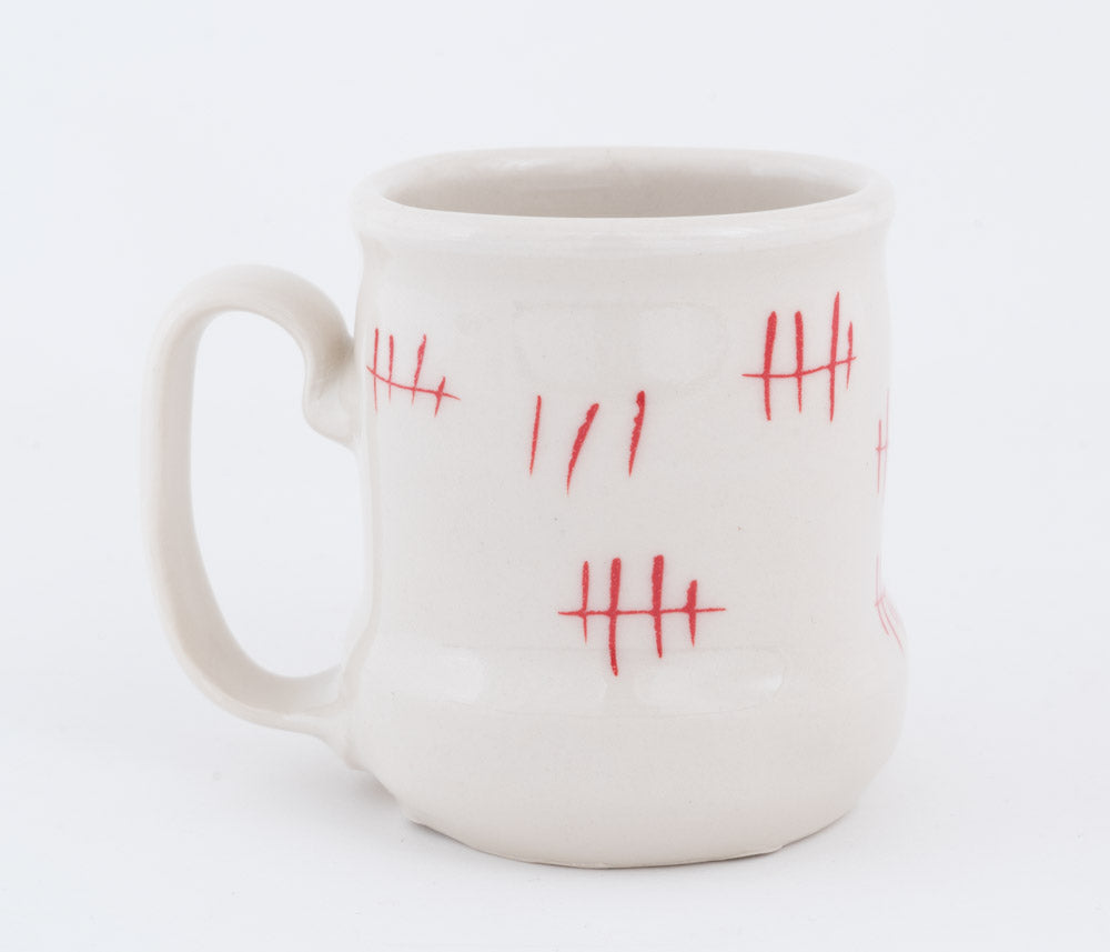 Chicken and Tally Marks Cup (c-2611) 10 fl oz