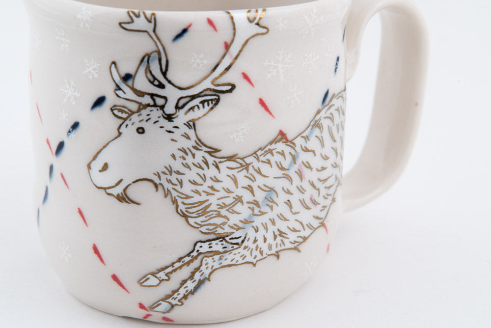 Reindeer in Snow Cup (c-2628) 8 fl oz