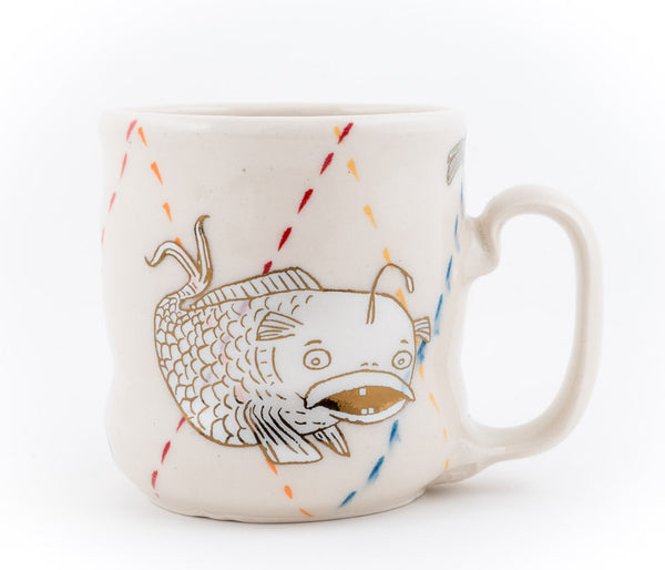 Fish and Dragonflies Cup (c-2658) 12 fl oz