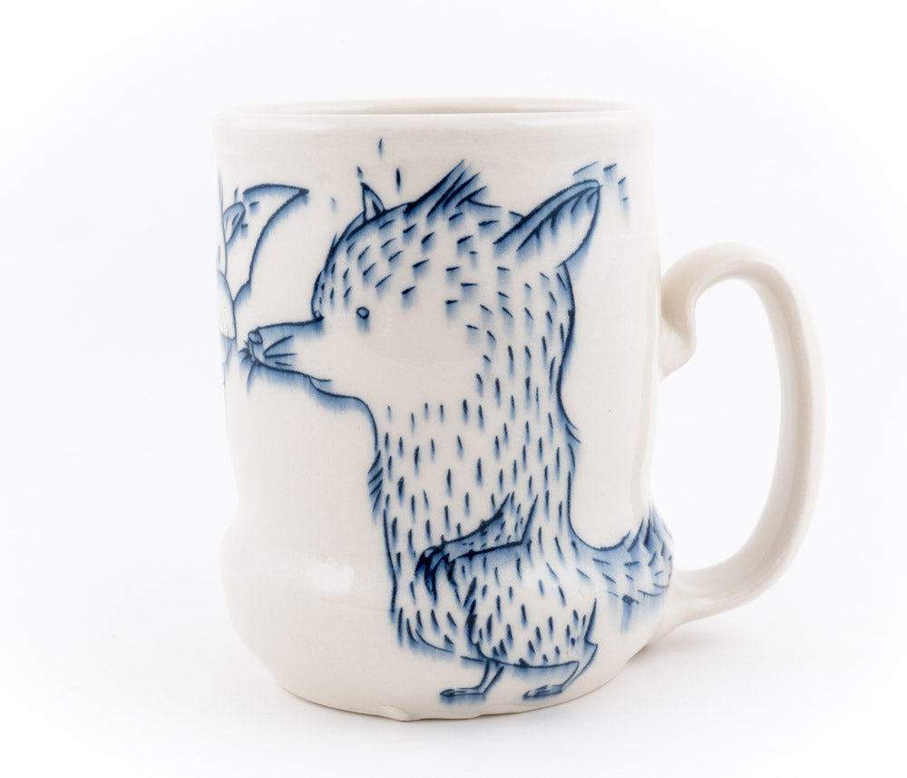 Fox and Bat Cup (c-2675) 20 fl oz