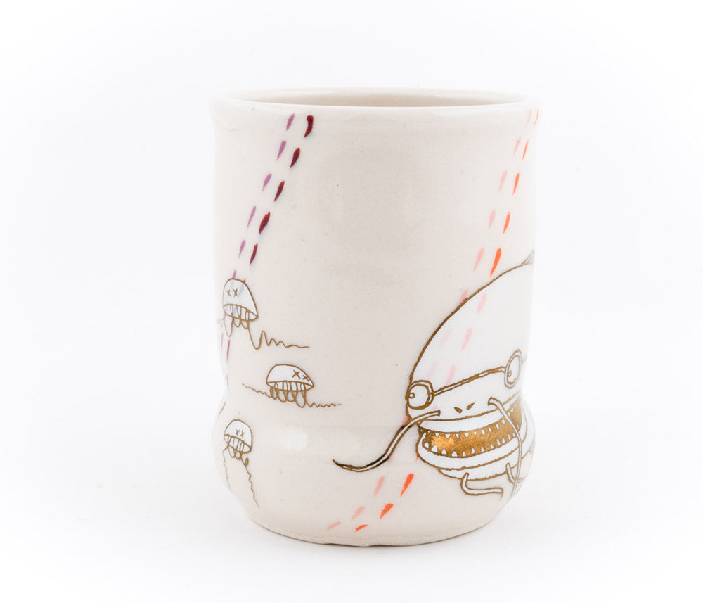 Fish and Jellyfish Cup (c-2676) 13 fl oz