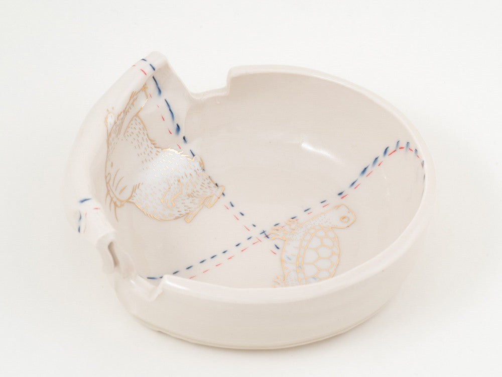 Rabbit and Turtle Dish (d-187)