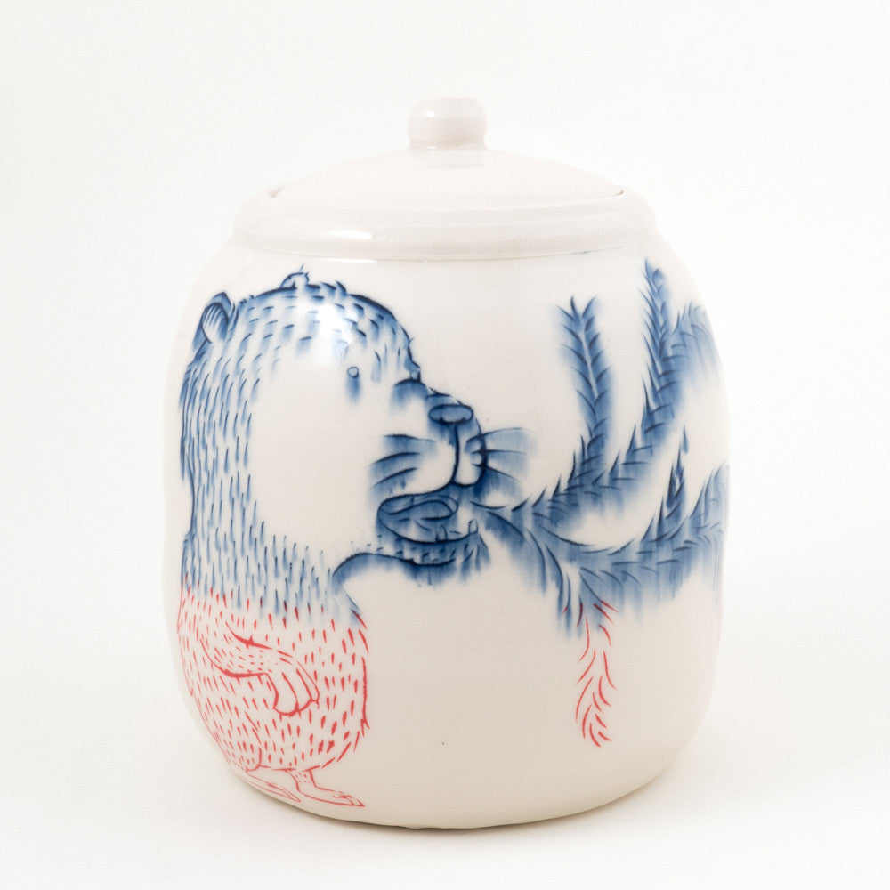Bear Breathing Fire Jar (j-118)