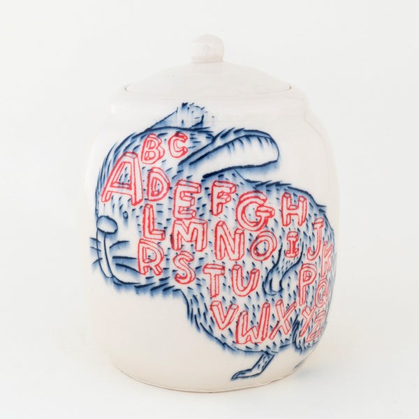 Alphabet Rabbit Jar (j-121)