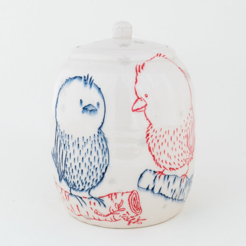 Birds in Snowfall Jar (j-122)