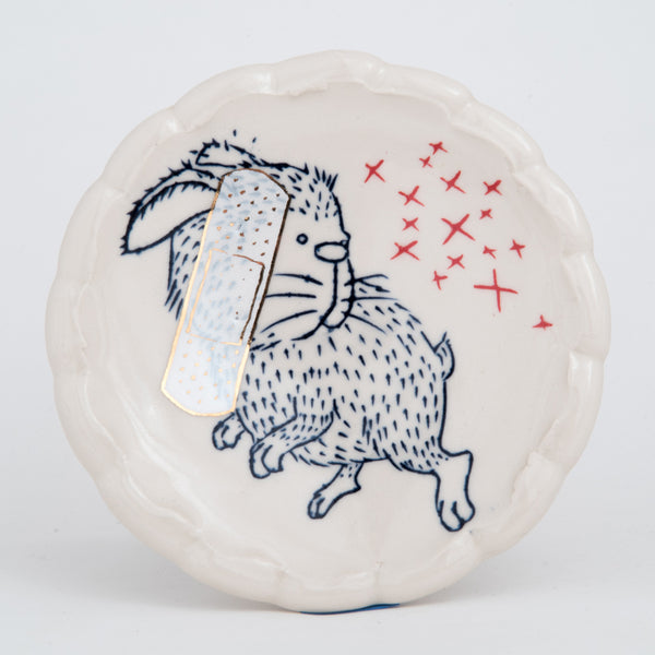 Band-Aid Rabbit Dessert Plate (pa-146)