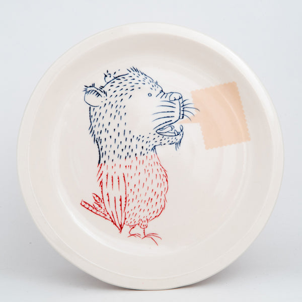 Bear-Bird Dinner Plate (pd-310)