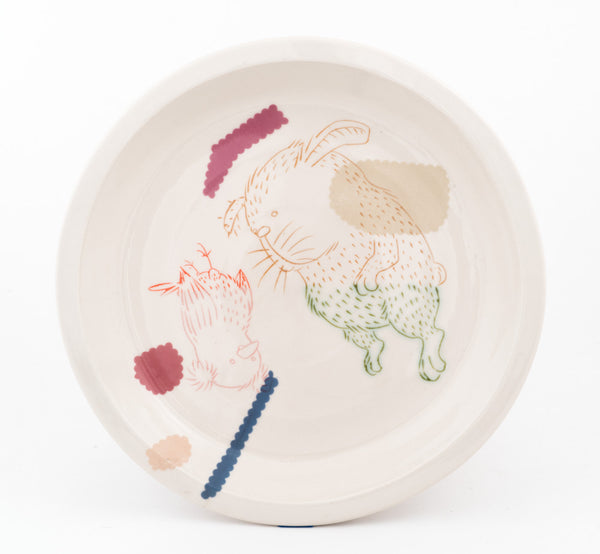 Rabbit and Bird Plate (pd-314)