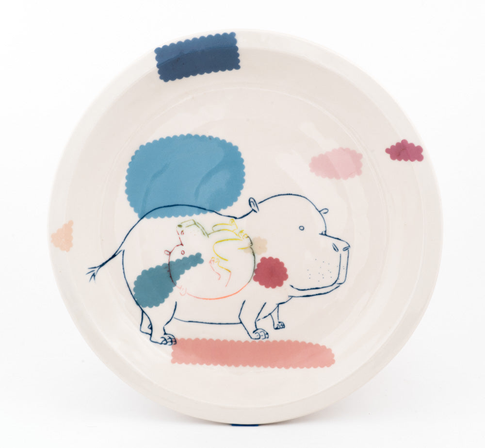 Pregnant Hippo Plate (pd-315)
