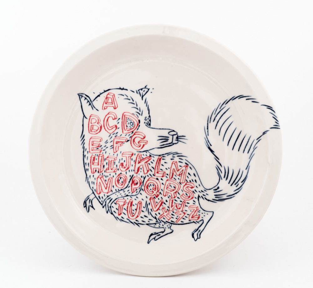 Alphabet Raccoon Plate (pd-320)